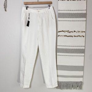 NWT Massimo Dutti Cream Linen Trousers